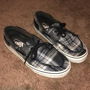 Vans Black and White Plaid size 7.5